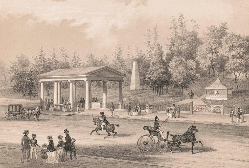 Congress Spring, Saratoga, 1849