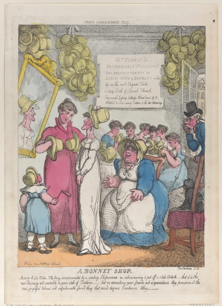 A Bonnet Shop 1810