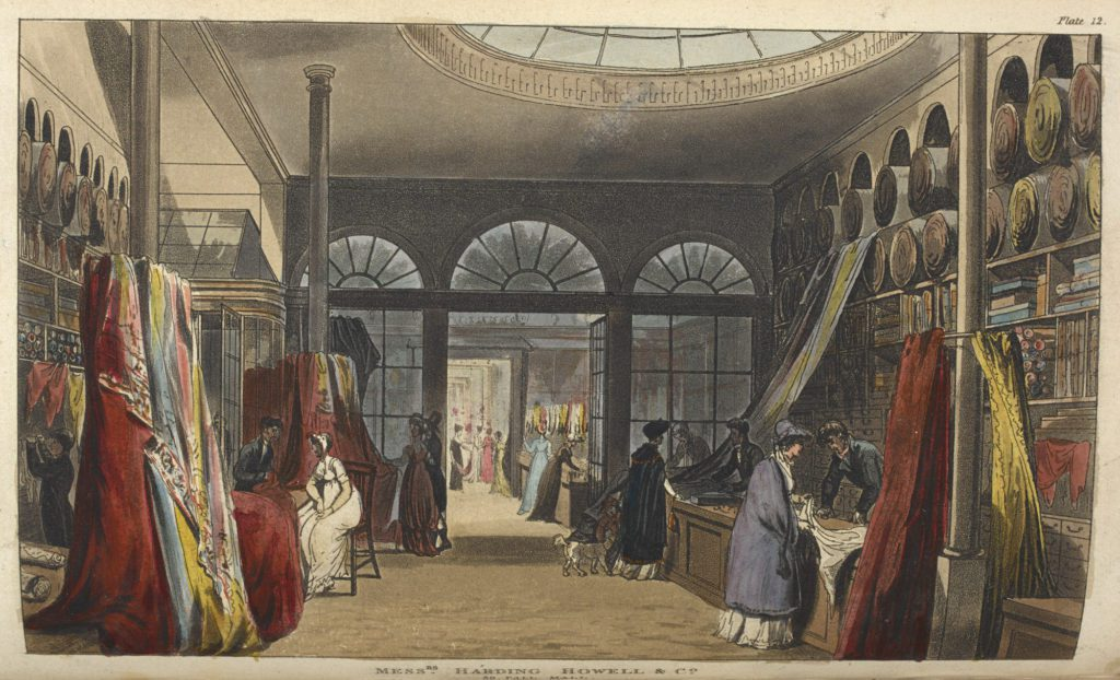Shopping early 19th century fabric