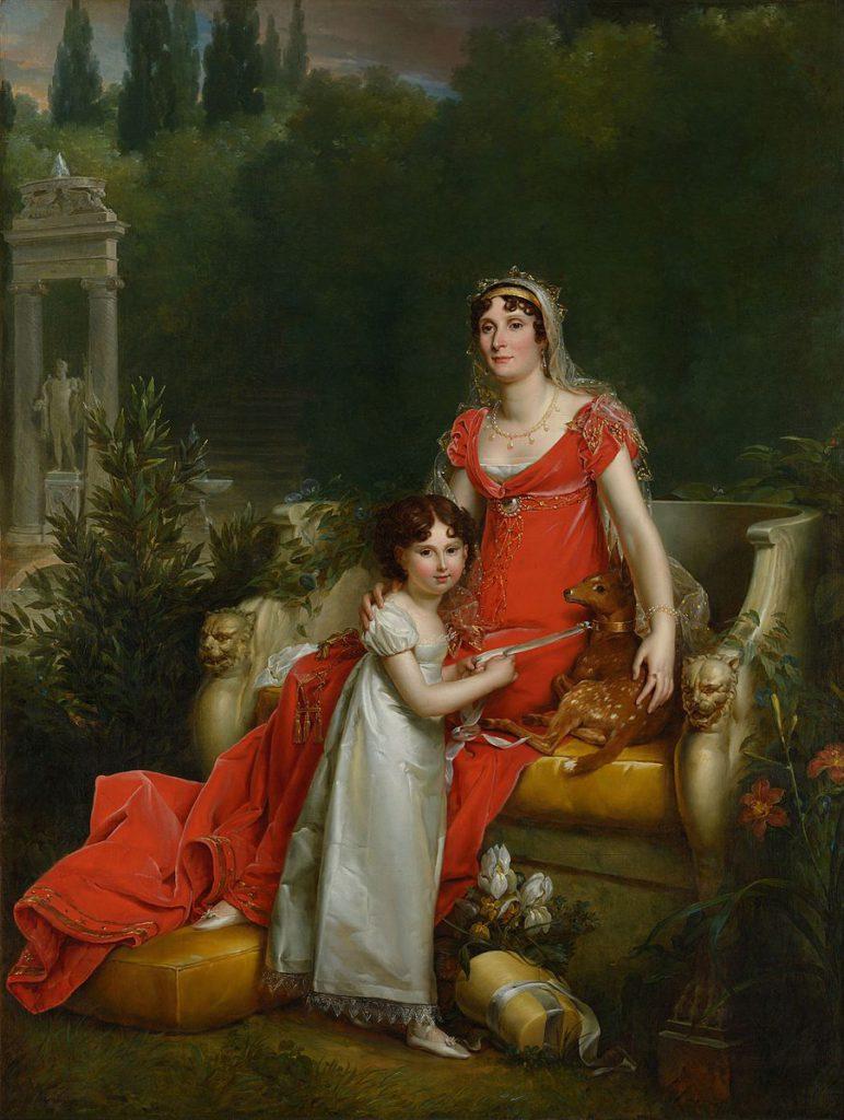 Elisa Bonaparte with her daughter, Napoléone Baciocchi, by François Gérard