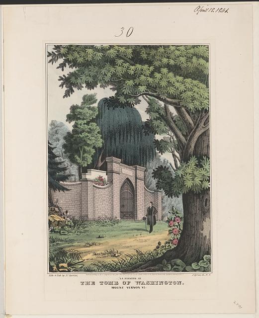 Lafayette visiting Washington's tomb 1824