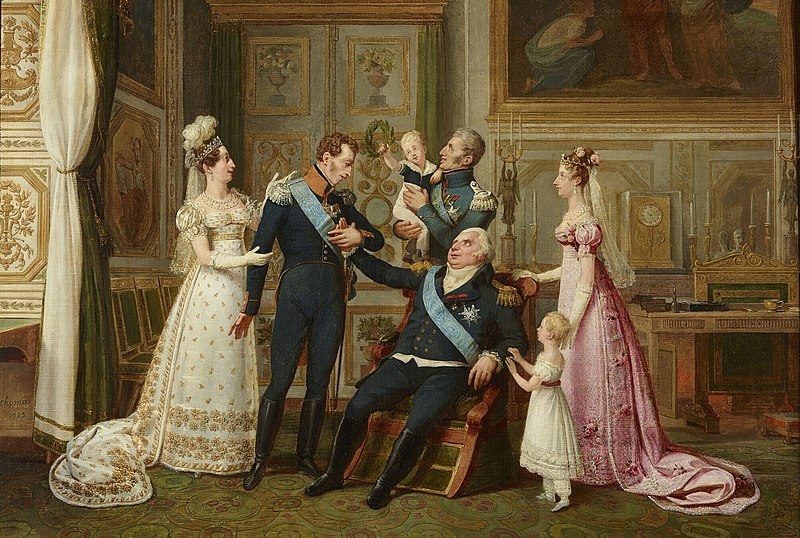 Louis XVIII & family, 1823