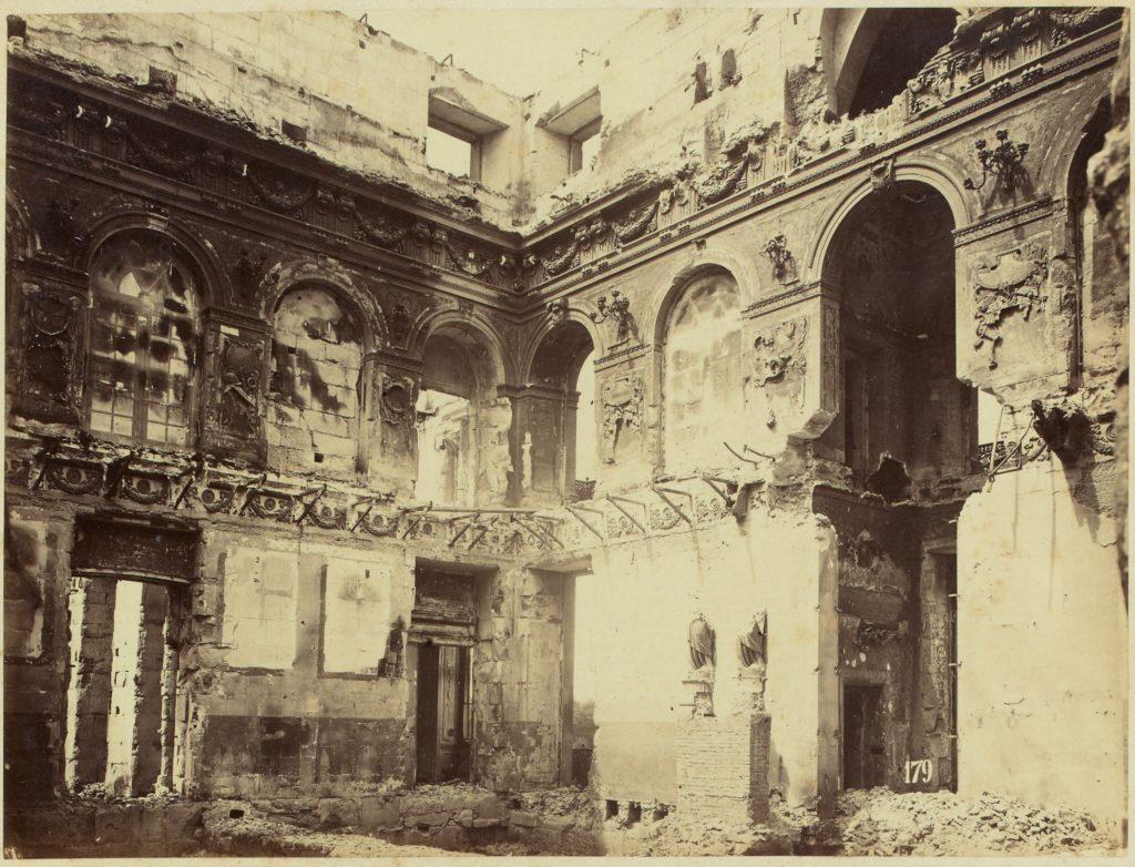 The Salle des Maréchaux after the 1871 fire