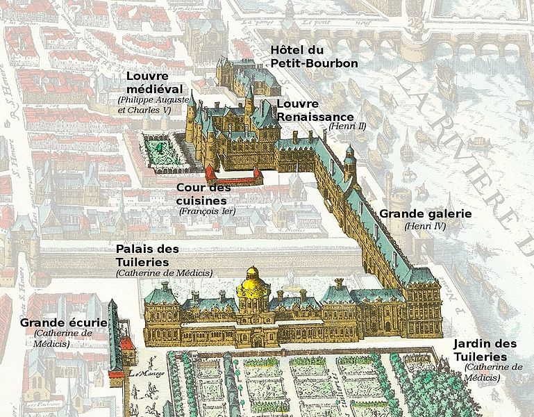 Tuileries and Louvre map 1615