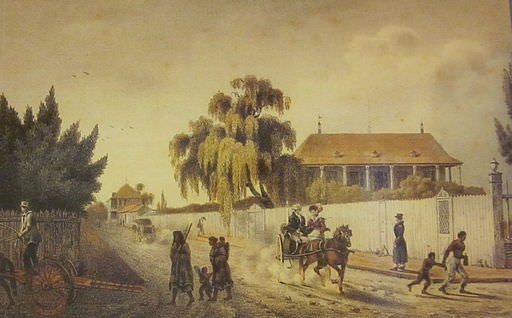 New Orleans (Faubourg Marigny) in 1821, when François Guillemin was French consul