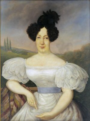 Micaela Almonester, Baroness de Pontalba, by Frank Schneider, 1927, based on a 19th century miniature